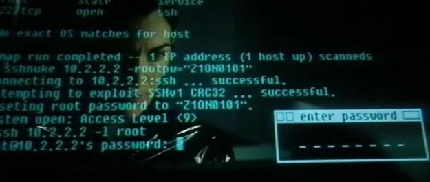Trinity hacking ssh with nmap in Reloaded